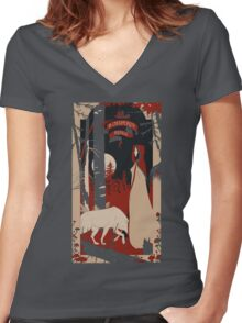 Le Chaperon Rouge Women's Fitted V-Neck T-Shirt