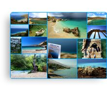 Collage/Postcard from Albania 3 - Travel Photography Canvas Print