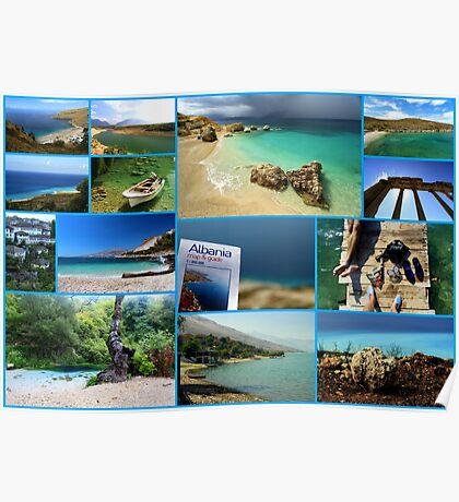Collage/Postcard from Albania 3 - Travel Photography Poster