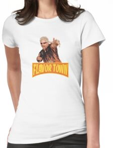 Guy Fieri - Flavor Town Womens Fitted T-Shirt