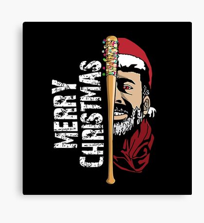 Negan Christmas Canvas Print