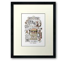 Dumb burger Framed Print