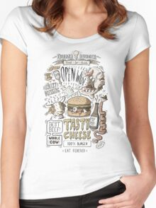 Dumb burger Women's Fitted Scoop T-Shirt