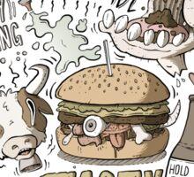 Dumb burger Sticker