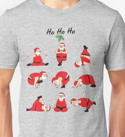 Nine Position Yoga Santa Christmas Family Gift T-Shirt Unisex T-Shirt