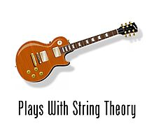Plays With String Theory - Guitar Version Photographic Print