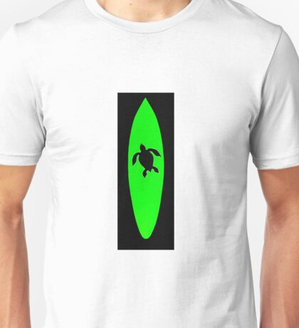 Sea turtle surfboard Unisex T-Shirt