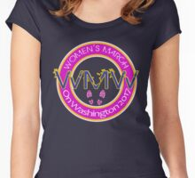 Million Women's March on Washington Pink Gold Women's Fitted Scoop T-Shirt