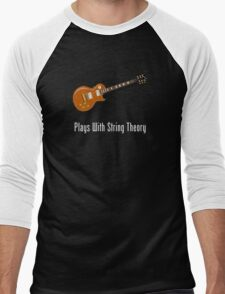 Plays With String Theory - Guitar Version Men's Baseball ¾ T-Shirt