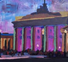 Berlin Brandenburg Gate With Fountain at Dusk  Sticker