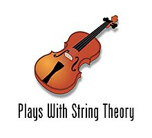 Plays With String Theory - Violin Version Photographic Print