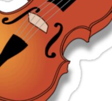 Plays With String Theory - Violin Version Sticker