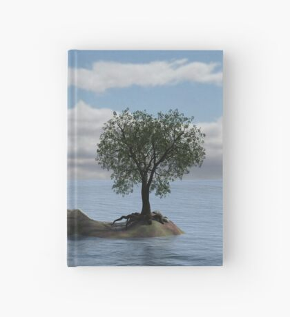 Mystical Beach - Deserted Island Scene Hardcover Journal