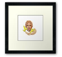 Nicolas Cage Egg Collage  Framed Print