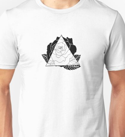 Geometric Rose Unisex T-Shirt