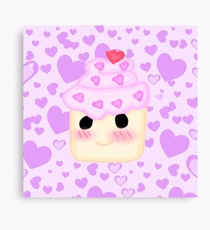 Kawaii Cupcake  Canvas Print