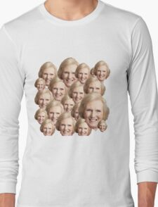 Mary Berry Print  Long Sleeve T-Shirt