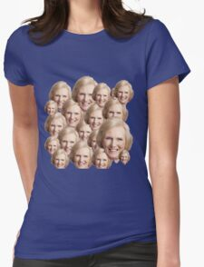 Mary Berry Print  Womens Fitted T-Shirt