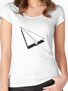 Paper Airplane 1 Women's Fitted Scoop T-Shirt