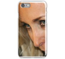 Blond Woman Strict iPhone Case/Skin