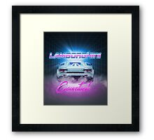 LAMBORGHINI COUNTACH - Clean Version Framed Print