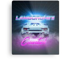 LAMBORGHINI COUNTACH - Clean Version Metal Print