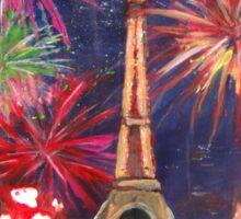 Paris New Years Eve firework Sticker
