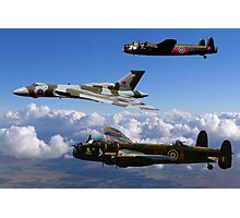 Avro Vulcan and Lancasters Photographic Print