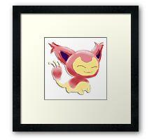 Pokemon! - Skitty Framed Print