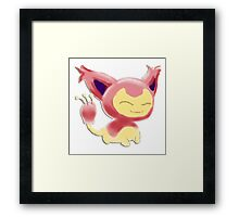 Pokemon! - Skitty Framed Print