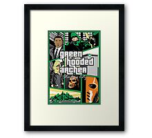 Green Hooded Archer Framed Print