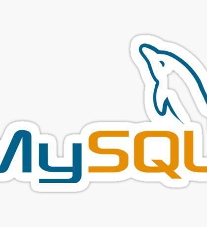 database mysql data Sticker