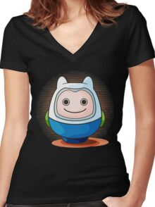 Daruma Women's Fitted V-Neck T-Shirt