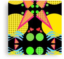 Neon New Wave Design Canvas Print