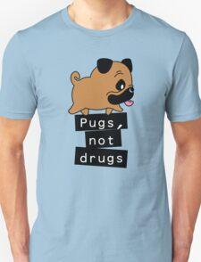 Little Pugs Not Drugs Unisex T-Shirt