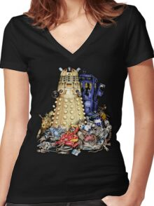 The Best Robot in the Universe Women's Fitted V-Neck T-Shirt