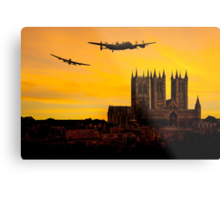 Two Lancasters over Lincoln cathedral Metal Print
