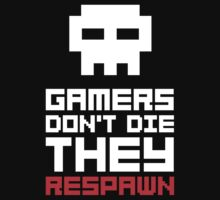 Pixel Skull Gamers Don't Die T-Shirt