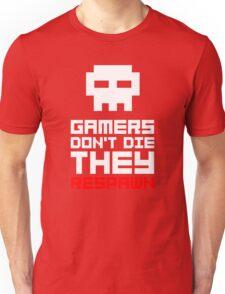 Pixel Skull Gamers Don't Die Unisex T-Shirt