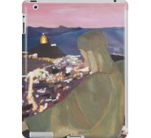 Rio De Janeiro With Christ The Redeemer at night iPad Case/Skin