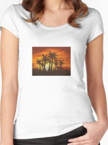 Florida Sunset Women's Fitted Scoop T-Shirt