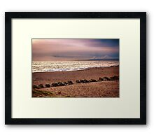 Dusk by the Sea Framed Print