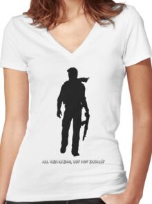 Nathan Drake (Uncharted, quote) Women's Fitted V-Neck T-Shirt