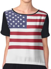 Made In USA Flag Decals - American Product Sticker Chiffon Top