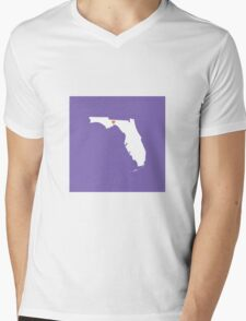 Florida Love Mens V-Neck T-Shirt