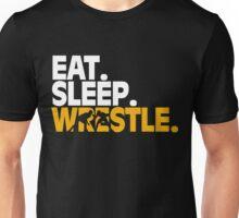Eat. Sleep. Wrestle. This Cool Wrestling Text design Unisex T-Shirt