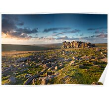 Sunset at Great Staple Tor Poster