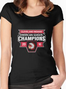 Cleveland Indians Champions World Series 2016 Women's Fitted Scoop T-Shirt