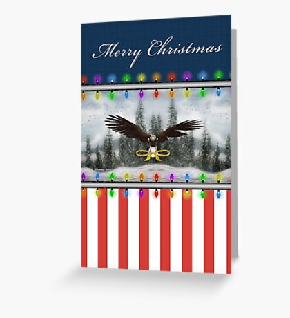 Patriotic Eagle Christmas Greeting Card Greeting Card