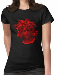 Red Medusa Womens Fitted T-Shirt